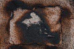 Burned canvas Stock Image