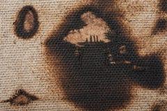 Burned canvas Royalty Free Stock Photo