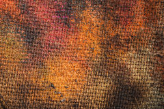 Burned canvas Stock Photography
