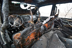 Burned car Stock Photography