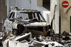 Burned Car Stock Image