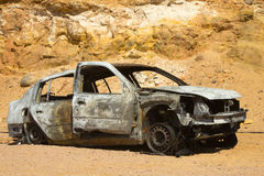 Burned car Stock Image