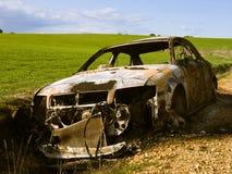 Burned car Royalty Free Stock Photo
