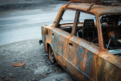 Burned car Royalty Free Stock Images