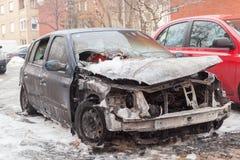 Burned car Stock Photo