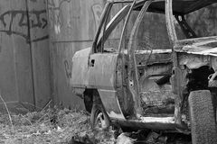 Burned car Royalty Free Stock Photography