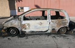 Burned car Stock Photos