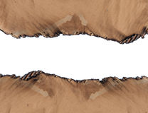 Burned cardboard paper frame Royalty Free Stock Photography