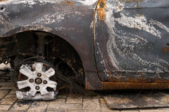Burned cars Royalty Free Stock Images