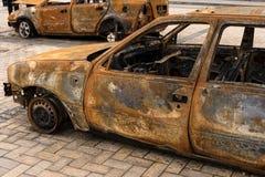 Burned cars Stock Image