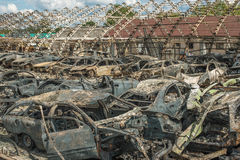Burned cars Royalty Free Stock Image