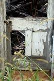 Burned church Eleroy, Illinois stock photos
