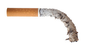Burned cigarette. Mens Health Concept royalty free stock images