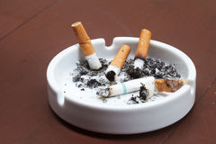 Burned cigarettes Stock Image