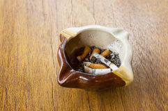Burned cigarettes Royalty Free Stock Images