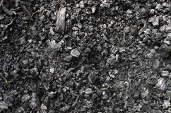 Burned coal Royalty Free Stock Photography