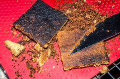 Free Burned Cookie Bars. Black Overcooked Sweet Treat. Royalty Free Stock Photos - 135486208