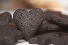 Burned Cookie Hearts Stock Photography