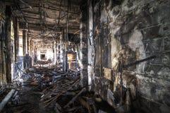 Burned Corridor Royalty Free Stock Photos