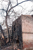 The burned-down house Royalty Free Stock Photography