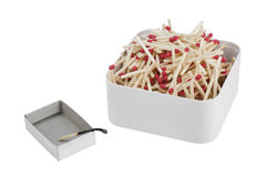 The burned down match. Loneliness concept Royalty Free Stock Photo