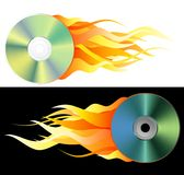Burned DVD Stock Photo