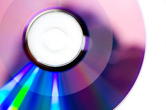 Burned DVDR. DVD-R already burned with information Royalty Free Stock Images