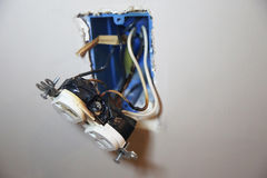 Burned Faulty Electrical Outlet Royalty Free Stock Photography