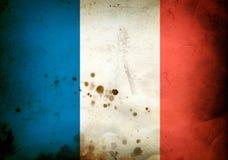 Burned flag of France Stock Images