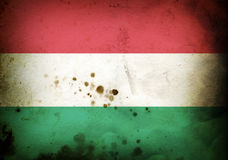 Burned flag of Hungary Royalty Free Stock Image