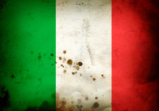 Burned flag of  Italy Royalty Free Stock Image