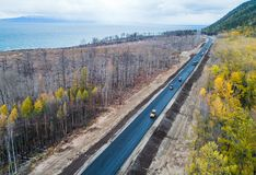Burned forest from above Royalty Free Stock Photography