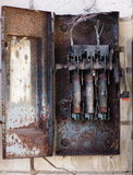 Burned fuse box Stock Photography