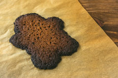 Burned Gingerbread Cookie Man Stock Image