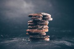Burned gingerbread cookies royalty free stock photo
