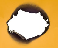 Burned Goldenrod Paper Border XXL Stock Photo