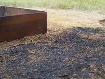 Burned grass Stock Photo