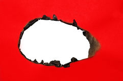 Burned hole Royalty Free Stock Image
