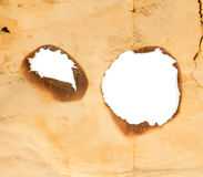 Burned hole Royalty Free Stock Photos