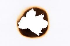 burned hole Στοκ εικόνα με δικαίωμα ελεύθερης χρήσης