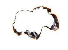 Burned hole Royalty Free Stock Photo