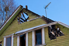 Burned house Royalty Free Stock Photo