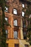 Burned house Stock Photography