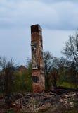 Burned house place Royalty Free Stock Image