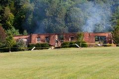Burned House Royalty Free Stock Image
