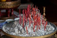 Burned incense sticks Royalty Free Stock Image
