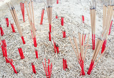 Burned incense sticks Royalty Free Stock Images