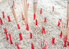 Burned incense sticks Royalty Free Stock Photography