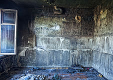 Burned interior Stock Image