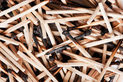 Burned matches Stock Photography